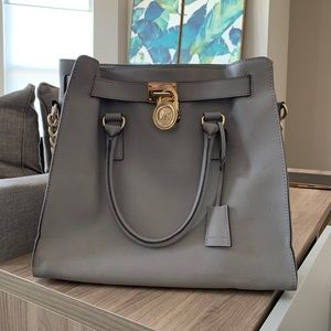 Michel Kors North South Hamilton Grey Satchel